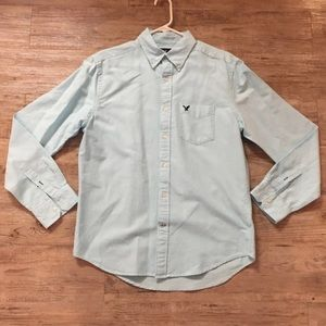 American Eagle Sky Blue Dress Shirt